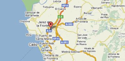 Mapa de Jerez - google maps
