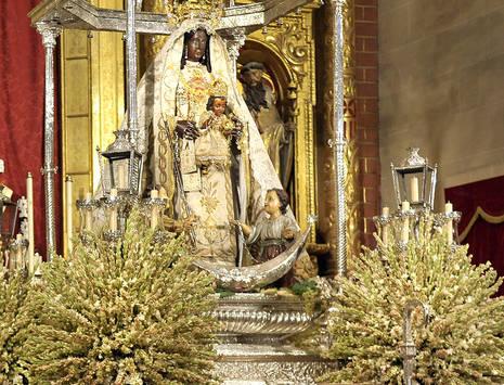 Virgen del la Merced. Patrona de Jerez. Fotografía de la web municipal.