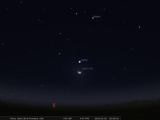 Imagen tomada con Stellarium