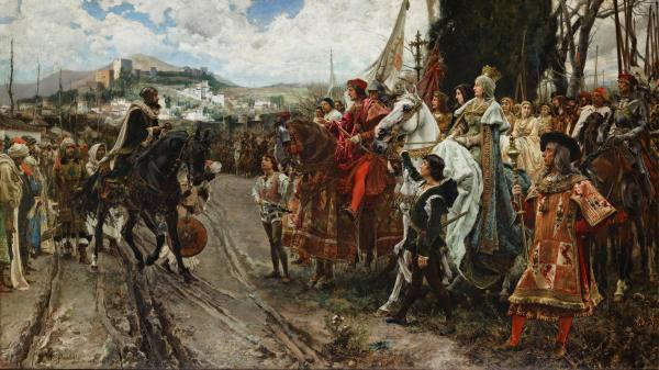 La rendición de Granada, Francisco Pradilla y Ortiz, 1882.